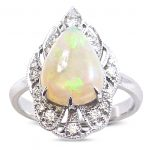Australian opal and diamond dress ring