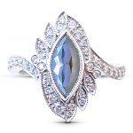 Black diamond Edwardian 10th anniversary ring