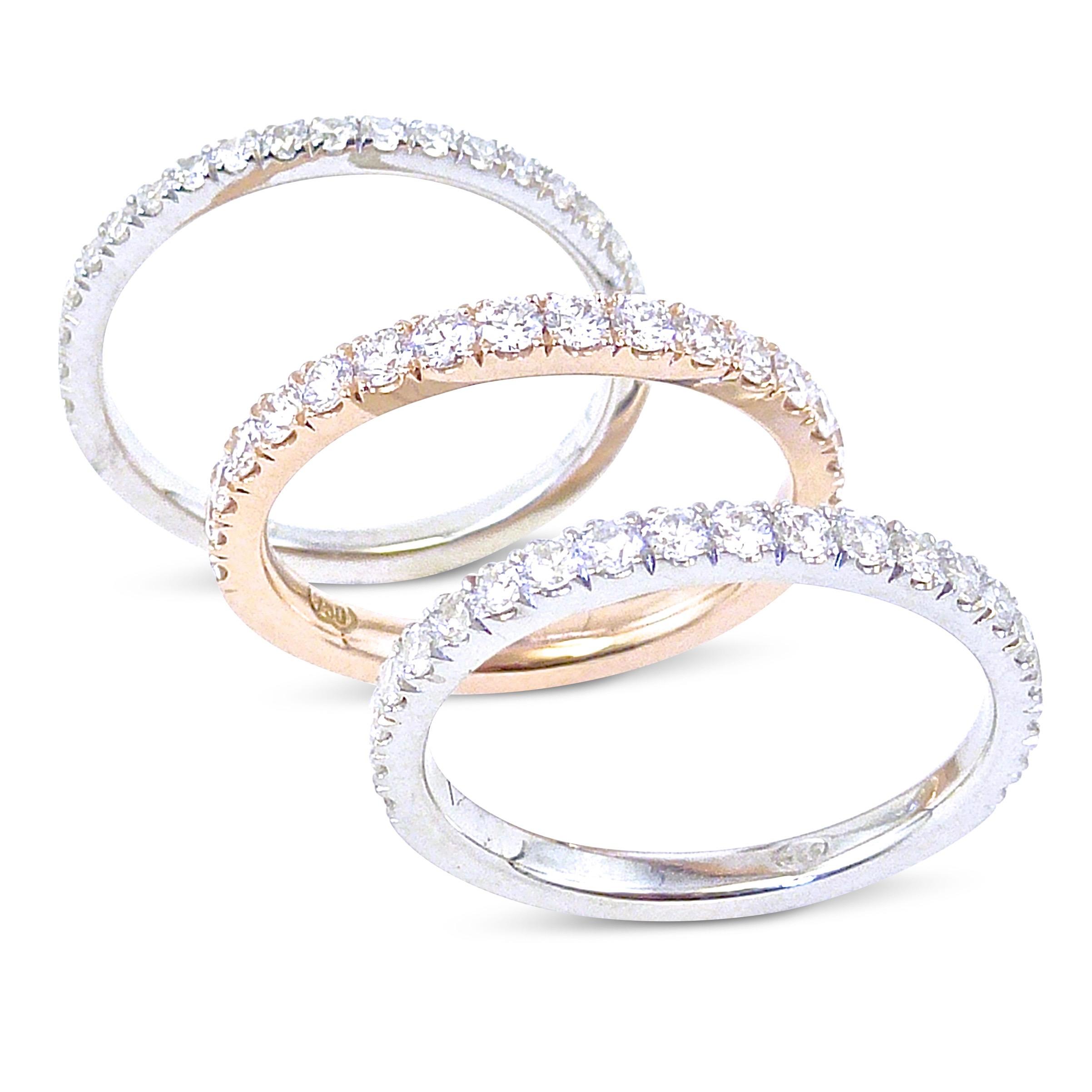 Nova/cut claw custom diamond wedding rings